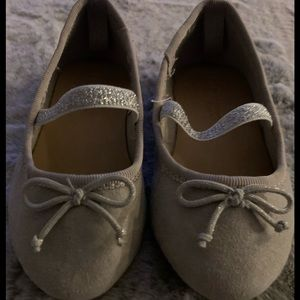 Other - Taupe/ gray suede ballet flats